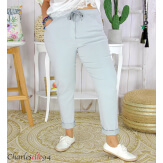 Pantalon femme grande taille stretch LIPA gris clair Pantalon femme grande taille