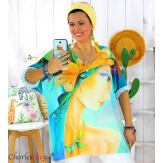 Tunique t-shirt maille imprimé femme grande taille CYBELE 6 Tunique femme grande taille