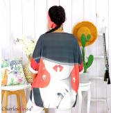 Tunique t-shirt maille imprimé femme grande taille CYBELE 8 Tunique femme grande taille