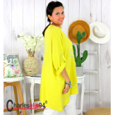 Tunique bohème été femme grande taille GAMAY jaune Tunique femme grande taille