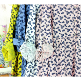 Robe chemise longue fleurie grande taille été SURINA jean Robe grande taille
