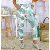 Pantalon femme grande taille stretch été FIGARI vert d'eau Pantalon femme grande taille