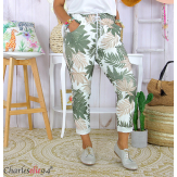 Pantalon femme grande taille stretch été FIGARI kaki Pantalon femme grande taille