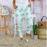 Pantalon femme grande taille stretch été BIOCCA vert Pantalon femme grande taille