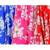 Tunique blouse été fleurie pompons grande taille PASQUA fushia Tunique été femme