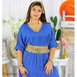 Large ceinture cuir femme grande taille SORINA beige Accessoires mode femme