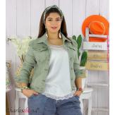 Veste jean stretch été femme grande taille MOSTA kaki Veste femme grande taille