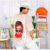 Tunique t-shirt maille imprimé femme grande taille CYBELE 9 Tee shirt tunique femme grande taille
