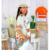 Tunique t-shirt maille imprimé femme grande taille CYBELE 10 Tee shirt tunique femme grande taille