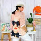 Tunique t-shirt maille imprimé femme grande taille CYBELE 12 Tee shirt tunique femme grande taille