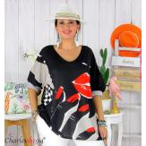 Tunique t-shirt maille imprimé femme grande taille CYBELE 16 Tee shirt tunique femme grande taille