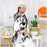 Tunique t-shirt maille imprimé femme grande taille CYBELE 17 Tee shirt tunique femme grande taille