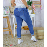 Jean slim femme grande taille élastiquée stretch MOSTA Jean femme