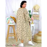 Robe été femme grande taille coton tencel DOINA camel Robe été grande taille