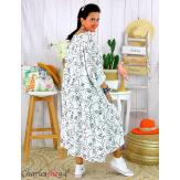 Robe été femme grande taille coton tencel DOINA blanche Robe été grande taille