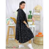 Robe été femme grande taille coton tencel DOINA noir Robe été grande taille