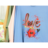 T shirt femme grande taille imprimé street KISS rose Tee shirt tunique femme grande taille