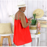 Top caraco bretelles été dentelle grande taille AFTER rouge Top en dentelle femme