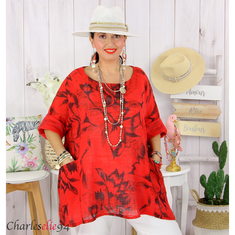 694 collection shirt long tunique femme T 60 à 64 avec paillettes M