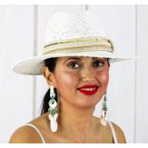 Boucles d 'oreilles pendantes nacre coquillages perles BCL3 Bijoux fantaisie