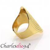 Bague acier ethnique dorée réglable MOKI4 Bijoux fantaisie