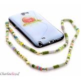 Bijou de téléphone collier long acier perles LOVEKISS1 Accessoires mode femme