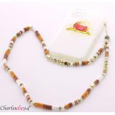 Bijou de téléphone collier long acier perles LOVEKISS2 Accessoires mode femme