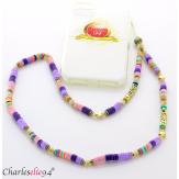 Bijou de téléphone collier long acier perles LOVEKISS3 Accessoires mode femme