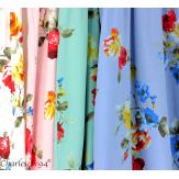 Robe longue maxi été fleurie grande taille DAY bleu jean Robe longue grande taille