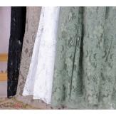 Robe dentelle été bohème grande taille LINETTE blanche Robe dentelle femme