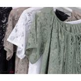 Robe dentelle été bohème grande taille LINETTE kaki Robe dentelle femme