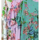 Robe tunique été fleurie grande taille AGAY turquoise Robe tunique femme grande taille