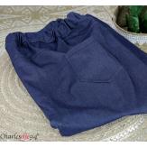 Pantacourt été femme grande taille stretch DUO bleu jean Pantalon femme grande taille
