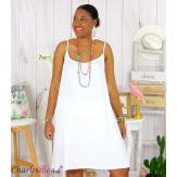 Fond de robe ou nuisette bretelles grandes tailles DESIR blanc Robe grande taille