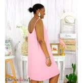 Fond de robe ou nuisette bretelles grandes tailles DESIR rose Robe grande taille