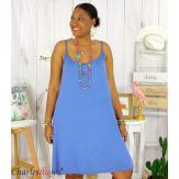 Fond de robe ou nuisette bretelles grandes tailles DESIR bleu jean Robe grande taille