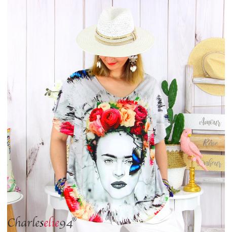 Tunique t-shirt été funky femme grande taille FORTUNA 1 Tee shirt tunique femme grande taille