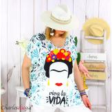 Tunique t-shirt été funky femme grande taille FORTUNA 2 Tee shirt tunique femme grande taille