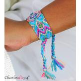 Bracelet manchette large tissé chevrons strass BRB9 Accessoires mode femme