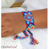 Bracelet manchette large tissé chevrons strass BRB11 Accessoires mode femme