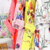 Robe longue été fleurie coton lin grandes tailles PAULO amande Robe été grande taille