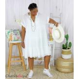 Tunique longue été coton grandes tailles YOUPI blanche Tunique été femme