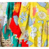 Robe tunique été grande taille fleurs LOREA vert Robe tunique femme grande taille