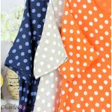 Robe boule longue été lin grandes tailles GIRO orange Vêtement lin femme grandes tailles