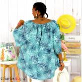 Tunique blouse été coton lin grandes tailles KALI amande Tunique femme grande taille