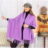 Étole châle laine cachemire mixte hiver STELLA Parme Écharpe cachemire femme