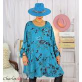Tunique longue femme grandes tailles fleurie SANSA canard Tunique femme grande taille