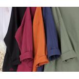 Sweatshirt tunique longue femme grande taille LYV bordeaux Tunique femme grande taille