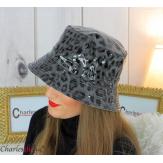 Chapeau de pluie femme vernis imperméable gris HB36 Accessoires mode femme