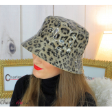 Chapeau de pluie femme vernis imperméable taupe HB36 Accessoires mode femme